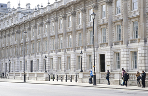 Cabinet Office building on Whitehall