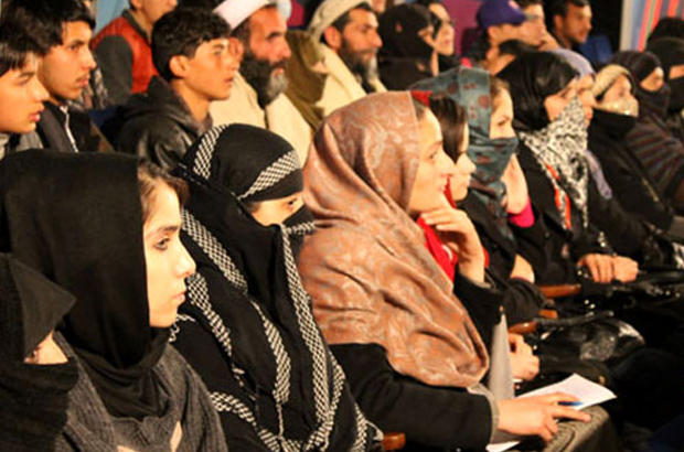 Open Jirga audience members - a special episode of Afghanistan's TV and radio debate show Open Jirga was devoted to women's role in the upcoming presidential election.