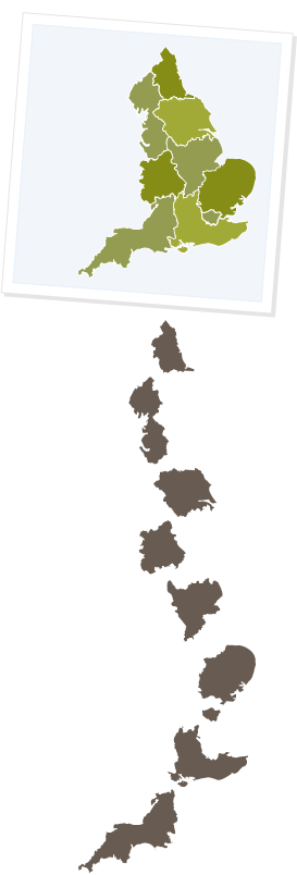 Regional map selector