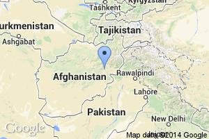 map of Kabul, Afghanistan