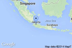 map of Jakarta, Indonesia