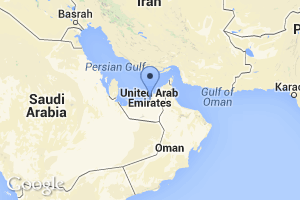 map of Abu Dhabi, UAE