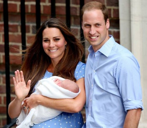 Duke and Duchess of Cambridge and their first son