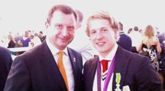 Ambassador Arkwright with Epke Zonderland