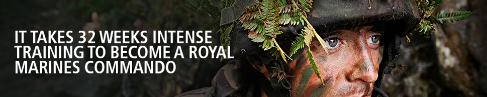It takes 32 Weeks Intense Training to Become a Royal Marines Commando