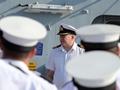 Echo's CO briefs the ship's company