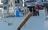 HMS Blyth in action