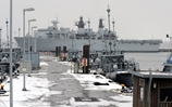'Ice refugee' HMS Bulwark pays unexpected visit to the home of the German Navy