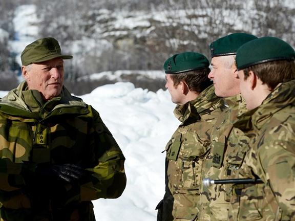 Royal Marines host Norwegian Royalty