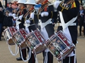Royal Marines drum up support for world record attempt
