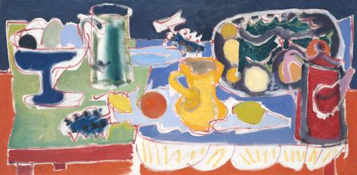 Patrick Heron, 'The Long Table with Fruit: 1949' 1949