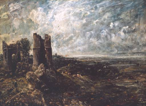 John Constable, 'Sketch for 'Hadleigh Castle'' circa 1828-9