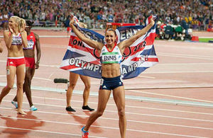 Jessica Ennis at the London 2012 Olympics