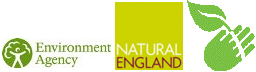 Environment Agency, Natural England and My Environment logos
