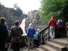 School group at the foot of High Force © Natural England