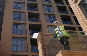 Chancellor visiting a housing development in Lewisham