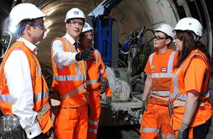 Chancellor visiting Crossrail tunnel