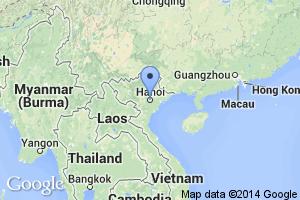 map of Hanoi, Vietnam