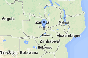 map of Lusaka, Zambia