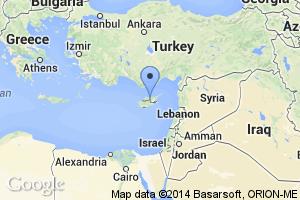 map of Nicosia, Cyprus
