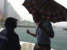 Male' in the rain