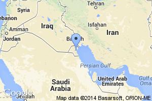 map of Kuwait City, Kuwait
