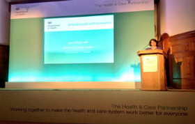 Jane Ellison speaking at HCP