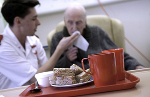 Stoke mandeville hospital: patient, nurse and hospital food