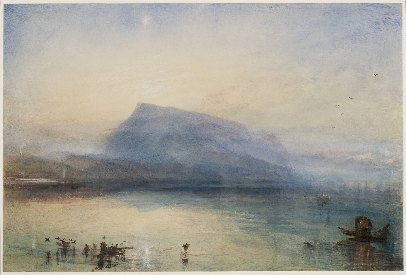 Joseph Mallord William Turner, 'The Blue Rigi, Sunrise' 1842