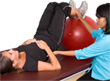 Physiotherapist working with a client