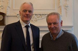 Francis Maude met with Microsoft's UK Country Manager, Michel Van der Bel, recognising Microsoft's work on open standards.