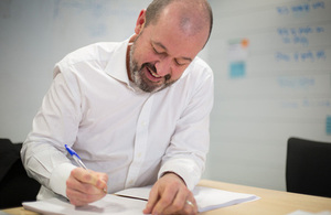 Mike Bracken signs GOV.UK Verify contracts.