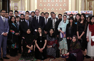 Chevening scholars group from Pakistan