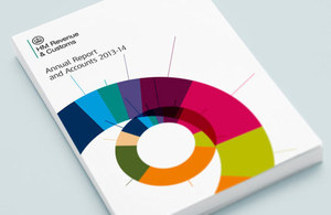 Front cover of the HMRC annual report and accounts: 2013 to 2014'