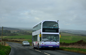 Bus in Cornwall - picture courtesy of Nick Rice via Creative Commons copyright