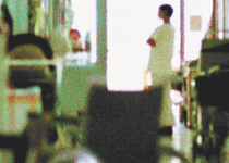 Blurred image of a hospital ward