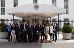 Minister for Cabinet Office Matt Hancock with other members of the UK–US digital teams at the White House