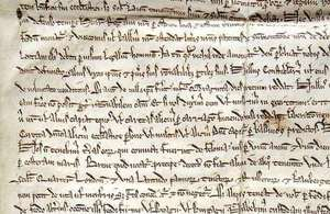 1217 Magna Carta from Hereford Cathedral