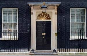 Door of No 10 Downing St