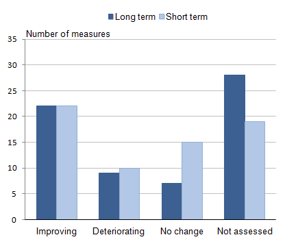 Summary Figure 1: Long-term and short term assessments for all measures