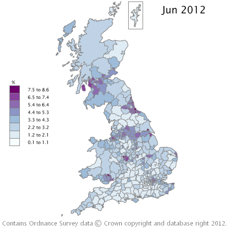Claimant Count Interactive Map