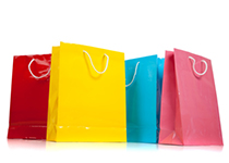 Colourful shopping bags