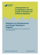 Front cover: Statistics on Homelessness and Rough Sleeping in England