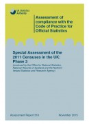 Cover of Special Assessment of the 2011 Censuses in the UK: Phase 3