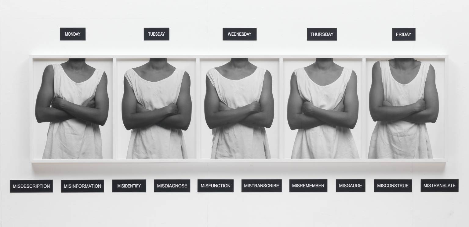 Lorna Simpson, 'Five Day Forecast' 1991