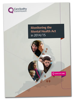 Cover of the Monitoring the Mental Health Act 2014/15 report