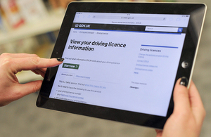 View your driving licence information online at www.gov.uk/view-driving-licence