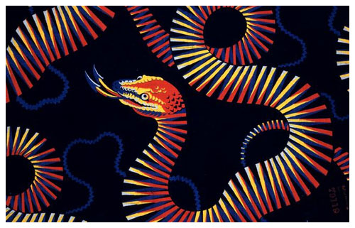 Patented textile pattern by Christopher Dresser.