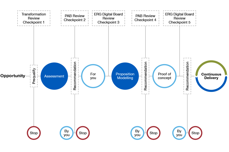 Diagram showing governance map for digital projects