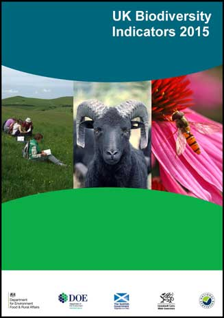 Cover of Biodiversity Indicators 2015